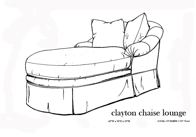 Custom chairs alana alegra interiors for Chaise construction